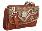 American West Texas 2 Step Grab-and-Go Combination Bag (Antique Tan/Distressed Charcoal/Sky Blue)
