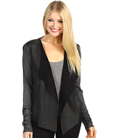 Michael Stars - L/S Leather Drape Front Jacket