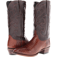 M1635 (Sienna Belly Crocodile/Dark Brown Derby Calf) Cowboy Boots
