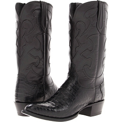 M1636 (Black Belly Crocodile/Black Derby Calf) Cowboy Boots