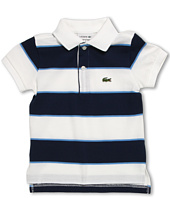 Lacoste Kids - Boys' S/S Bold Stripe Pique Polo (Toddler/Little Kids/Big Kids)