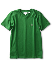 Lacoste Kids - Boys' S/S Classic Jersey V-Neck Tee (Toddler/Little Kids/Big Kids)