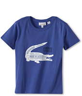 Lacoste Kids - Boy's S/S Large Croc Print Graphic Tee (Toddler/Little Kids/Big Kids)