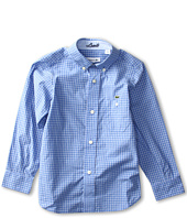 Lacoste Kids - Boy's L/S Mini Check Poplin Shirt (Little Kids/Big Kids)