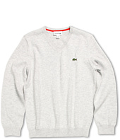 Lacoste Kids - Boy's Long Sleeve Cotton V-Neck Sweater (Toddler/Little Kids/Big Kids)