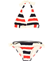 Juicy Couture Kids - Miniature Port Stripe Halter Top w/ Side Tie Classic Bottom (Toddler/Little Kids/Big Kids)
