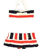 Juicy Couture Kids - Miniature Port Stripe Bandeau Top w/ Skirt Bottom (Toddler/Little Kids/Big Kids)