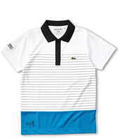 Lacoste Kids - Boy's S/S Andy Roddick Super Dry Stripe Polo (Little Kids/Big Kids)