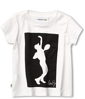 Lacoste Kids - Boy's S/S Andy Roddick Print Graphic Tee (Little Kids/Big Kids)
