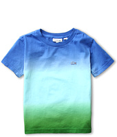 Lacoste Kids - Boy's S/S Crewneck Dip Dye Tee (Little Kids/Big Kids)