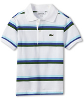 Lacoste Kids - Boy's S/S Stripe Pique Polo (Toddler/Little Kids/Big Kids)