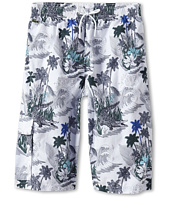Lacoste Kids - Boy's Palm Tree Print Swim Trunk (Little Kids/Big Kids)