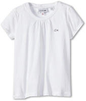 Lacoste Kids - Girl's S/S Crewneck Tee (Toddler/Little Kids/Big Kids)