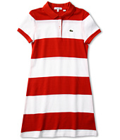 Lacoste Kids - Girl's S/S Bold Stripe Polo Dress (Toddler/Little Kids/Big Kids)