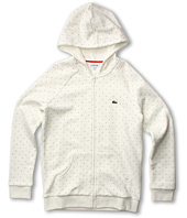 Lacoste Kids - Girl's Full Zip Polka Dot Sweatshirt (Little Kids/Big Kids)