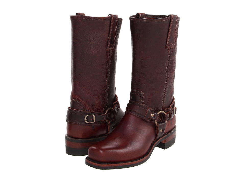 Frye Belted Harness 12R (Chestnut Leather) Cowboy Boots