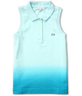 Lacoste Kids - Girl's Sleeveless Dip Dye Pique Polo (Toddler/Little Kids/Big Kids)