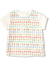 Stella McCartney Kids - Girls S/S Tee w/ Floral Print (Toddler/Little Kids/Big Kids)