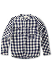 Stella McCartney Kids - Rafferty Boys Woven Button Up Check Shirt (Toddler/Little Kids/Big Kids)