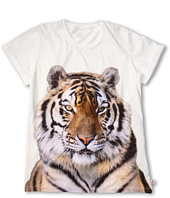 Stella McCartney Kids - Violet Girls S/S Tee w/ Tiger Graphic (Toddler/Little Kids/Big Kids)