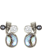 Judith Jack - 60234507 Pearl Moon Item Drop Earrings