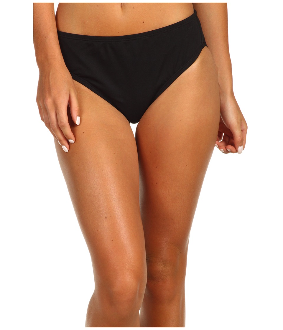 Speedo - High Waist Bottom w/ Core Compression (Black) Womens Swimwear