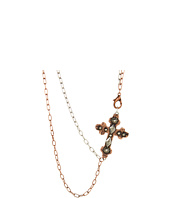 Gypsy SOULE - Silver and Copper Double Chain w/ Cross Necklace
