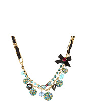 Betsey Johnson - Blue Lagoon Fireball Charm Necklace