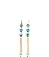 Betsey Johnson - Blue Lagoon 3 Heart Earrings