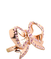 Betsey Johnson - Vintage Rose Bow 2 Finger Ring