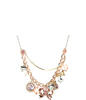 Betsey Johnson - Vintage Rose Bow Charm Necklace