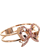 Betsey Johnson - Vintage Rose Bow Hinged Bracelet