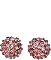 Betsey Johnson - Vintage Rose Round Crystal Stud Earrings