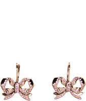 Betsey Johnson - Vintage Rose Bow Drop Earrings