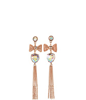 Betsey Johnson - Vintage Rose Heart Bow Earrings