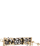 Betsey Johnson - Pretty Polka Dot Multi Heart Bow Bracelet