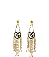 Betsey Johnson - Pretty Poka Dot Heart Earrings