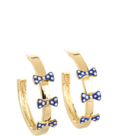 Betsey Johnson - Pretty Polka Dot Bow Hoop Earrings