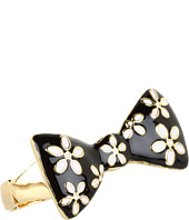 Betsey Johnson - Pretty Polka Dot Flower Bow 2 Finger Ring
