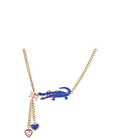 Betsey Johnson - Ivy League Toc Alligator Heart Y Necklace