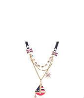 Betsey Johnson - Ivy League Toc Sailboat Necklace