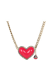 Betsey Johnson - Ivy League Heart Sailboat Necklace
