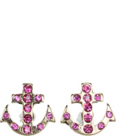 Betsey Johnson - Ivy League Anchor Crystal Stud Earrings