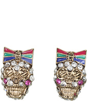 Betsey Johnson - Ivy League Skull Stud Earrings