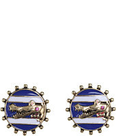 Betsey Johnson - Ivy League Alligator Cameo Stud Earrings