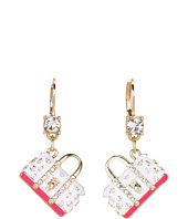 Betsey Johnson - Ivy League Purse Skull Drop Earrings