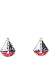 Betsey Johnson - Ivy League Sailboat Stud Earrings