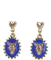 Betsey Johnson - Ivy League Skull Cameo Drop Earrings