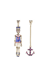Betsey Johnson - Ivy League Sailor/Anchor Non-Matching Earrings