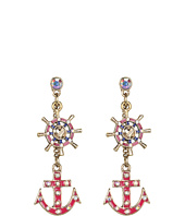 Betsey Johnson - Ivy League Anchor Mast Drop Earrings
